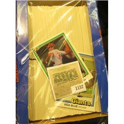 1157 _ Box nearly full of 1981 Donruss Baseball Cards, Mint condition or nearly so. Includes Vida Bl
