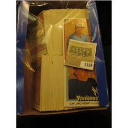 1159 _ Box nearly full of 1981 Donruss Baseball Cards, Mint condition or nearly so. Includes Gaylord