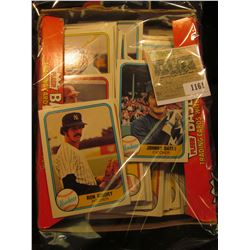 1161 _ Box full of 1981 Fleer Baseball Cards, Mint condition or nearly so. Includes Johhny Oates, Ro
