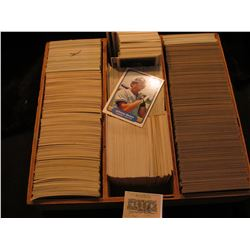 1162 _ Three Rox Wooden case with mixed brand 1982 & etc Baseball Cards. I didn't take time to sort.