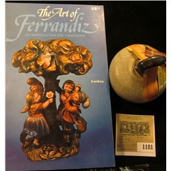 "1181 _ ""The Art of Ferrandiz an Identification and Value Guide"", by Carl Luckey;  & a miniature ""Ben"