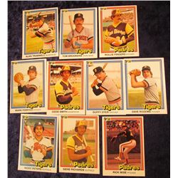 1184 _ No. 1-10 1981 Donruss Baseball Cards, all Mint condition.