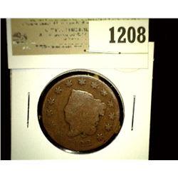 1208 _ 1822 U.S. Large Cent, G-AG.
