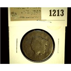 1213 _ 1830 U.S. Large Cent, AG.