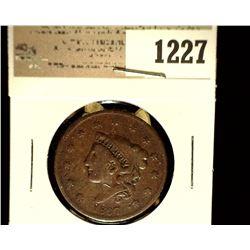 1227 _ 1837 U.S. Large Cent, Very Good,