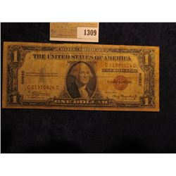 "1309 _ Series 1935 A ""Hawaii"" Overprint World War II Silver Certificate"