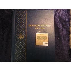 1310 _ Deluxe Whitman Album with a partial Set of Buffalo Nickels, which includes 1916 D, 17P, 18P,