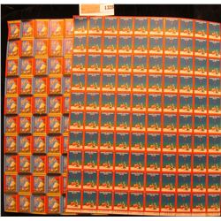1328 _ Pair of 1934 Full Sheets of American Lung Association Christmas Seals, excellent condition.