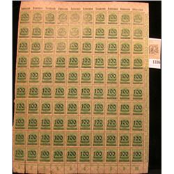 1336 _ (ERROR) 1922 German Reich Empire 100 thousand overprint 400 mark million stamp sheet issued d
