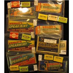 "1346 _ Large group of ""Gum"" related Advertising items, which Doc had valued at over $150.00."