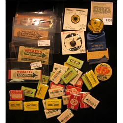 "1350 _ Large group of ""Gum"" related Advertising items, which Doc had valued at over $100.00."