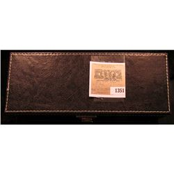 1351 _ A nice leather bound storage box for slabbed Coins.
