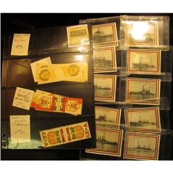 1352 _ Some various labels which Doc had stored in a stamp page, includes German Society, Welcome Fl