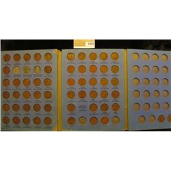 1353 _ 1925-69 Partial Set of Lincoln Cents in a blue Whitman folder