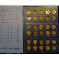 1374 _ 1909-1940 Partial Set of Lincoln Cents in a Deluxe Whitman album with coins grading up to AU.