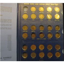 1380 _ Deluxe Whitman album with a partial Set of Indian Head Cents, includes (3) flying Eagle cents