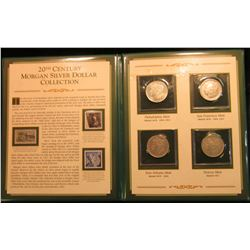 1384 _ 20th Century Morgan Silver Dollar Collection complete with Stamps & Morgan Silver Dollars 192