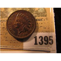 1395 _ 1882 Indian Head Cent, Variety 2, EF.
