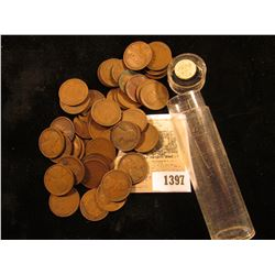 1397 _ 1909 P & P VDB Mixed Roll of Circulated Lincoln Cents. (only 1 roll)