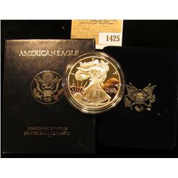 1425 _ 1996P Proof American Eagle Silver Dollar, Original as Issued.