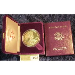1426 _ 1988S Proof American Eagle Silver Dollar, Original as Issued.