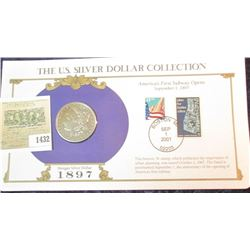 1432 _ 1897 S Morgan Dollar first Day Cover.