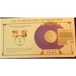 1439 _ 1885 Morgan Dollar first Day Cover.