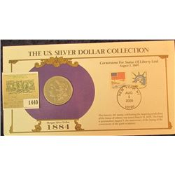 1440 _ 1884 O Morgan Dollar first Day Cover.