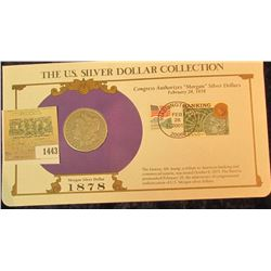1443 _ 1878 Morgan Dollar first Day Cover.
