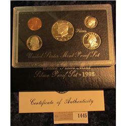 1445 _ 1998 S US Silver Proof Set. Original as Issued.