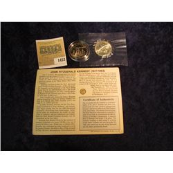 1453 _ Solid 14K Gold Kennedy Memorial Miniature Half Dollar, 1986 S Statue of Liberty Half Dollar,