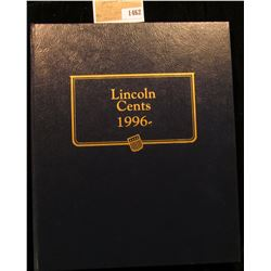 "1462 _ Used and empty Deluxe Whitman Album ""Lincoln Cents 1996-"". No coins."