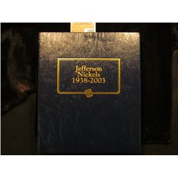 "1470 _ Used and empty Deluxe Whitman Album ""Jefferson Nickels 1938-2003"". No coins."