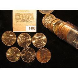 1480 _ 2013 D Solid-date Roll of Kennedy Half Dollars. Gem BU, stored in a plastic tube.