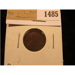 1485 _ 1909 S Key date Lincoln Cent, VF.