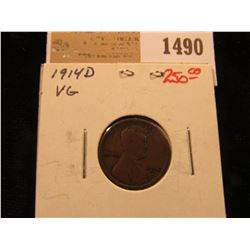 1490 _ 1914 D Lincoln Cent, VG.