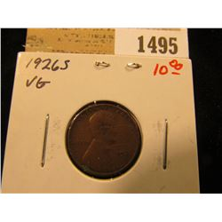 1495 _ 1926 S Lincoln Cent, VG.