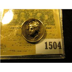 1504 _ 1918 Mercury Dime Rare Punch Out Coin.  Most of these were sold at Expositions and or fairs.