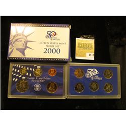 1512 _ 2000 S U.S. Proof Set, Original as issued. A nice attractive set with all coins exhibiting Ca