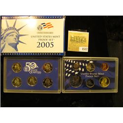 1517 _ 2005 S U.S. Proof Set, Original as issued. A nice attractive set with all coins exhibiting Ca
