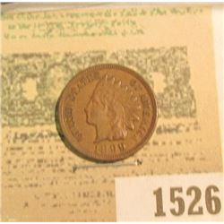 1526 _ 1899 U.S. Indian Head Cent, EF-AU.