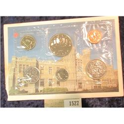 1527 _ 1987 Royal Canadian Mint Set, Six-piece. Original as issued. Envelope tattered on one edge.