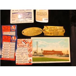 1584 _ Group of Rath Meat Packing Plant Memorabilia.
