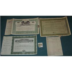 """1585 _ (5) Different Stock Certificates: """"The Common Stock Fund""""; """"Faberge, Incorporated""""; """"Richfiel"""