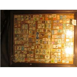 """1599 _ 20"""" X 24"""" Picture Frane with about 200 Used US. Stamps."""
