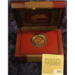 1607 _ Thomas Jefferson Double Eagle Medal in a U.S. Mint Box.