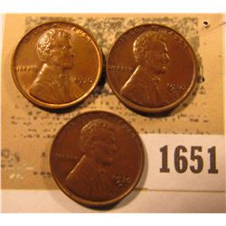 1651 _ 1930 P Brown Uncirculated & (2) 30 D Brown Uncirculated Lincoln Cents.