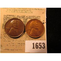 1653 _ Pair of 1930 D Lincoln Cents, one is Brown Unc & the other Red Unc.