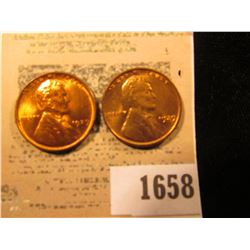 1658 _ Pair of 1929 D Lincoln Cents, both Brilliant Red Uncirculated.