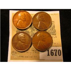 1670 _ 1922 D VF, (2) 23 P EF, & 25 P Brown Unc Lincoln Cents.
